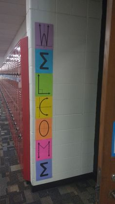 Math = Love: My 2018 2019 Math Classroom Decorations Math Teacher, Teaching Math, Teacher Hacks, Google Classroom, Maths Classroom Displays, Maths Display, Anchor Charts, Math Classroom Decorations, Classroom Ideas