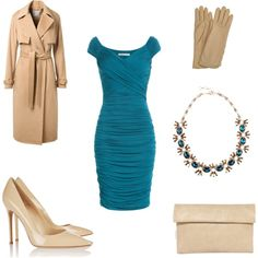 Turquoise and beige combo by smirnoff-designs on Polyvore featuring polyvore, fashion, style, Bailey 44, Jason Wu, Gianvito Rossi, Yoki and AGNELLE