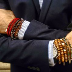 Bracelets for him. Semi precious stones and leather band. Style By Bella...: Style ByBella www.barabella.se