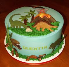 edible dinosaur cake images | Yep! Everything is hand-made and edible...even the rocks!!!