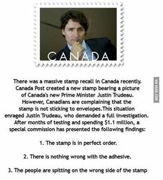 Trudeau's stamp