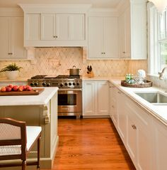 Jamestown Home - traditional - kitchen - providence - Taste Design Inc  backsplash tile is gorgeous