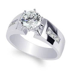 JamesJenny Ladies 10K White Gold 11ct Round CZ Solid Solitaire Ring Size 75 >>> You can find out more details at the link of the image.(This is an Amazon affiliate link)
