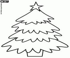 Kerstboom met de ster kleurplaat