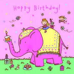 Pink Elephant Fairyprincess Birthday