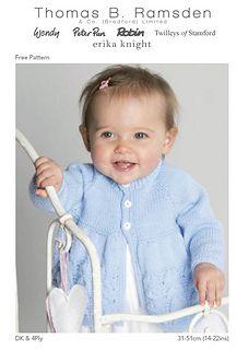 Knit Baby Cardi Free Pattern