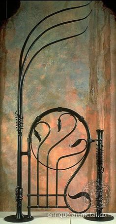 Gorgeous Art Nouveau Garden Gate (but it would be even more gorgeous if it was in a garden)!