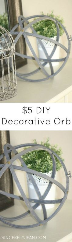 DIY Decorative Orb for $5-Simple and beautiful home decor! |www.sincerelyjean.com