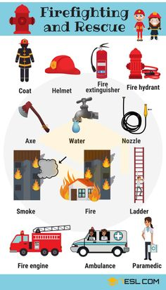 Firefighter Tools: Firefighting and Rescue Vocabulary Firefighting and Rescue Vocabulary in English English Vocabulary Words, Learn English Words, Grammar And Vocabulary, English Idioms, English Phrases, English Grammar, Grammar Rules, Vocabulary Games, English Lessons For Kids
