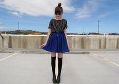 Shop this look on Kaleidoscope (blouse, skirt, socks, shoes, sunglasses)  http://kalei.do/WVYY0NYAkpImg9mg