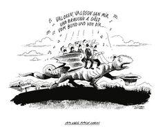 """OÖN-Karikatur vom 03. April 2015: """"Auf dem Weg nach Wien"""" Mehr Karikaturen auf: http://www.nachrichten.at/nachrichten/karikatur/ (Bild: Mayrhofer)"""