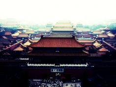 forbidden city view from the coal hill