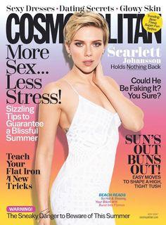 Scarlett Johansson in Jonathan Simkhai on the July 2017 Cover of Cosmopolitan Magazine