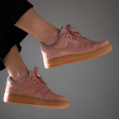 Ladies love Nike Wmns Air Force 1 '07 LV8 Suede in particle pink colorway Now available at KICKZ.com