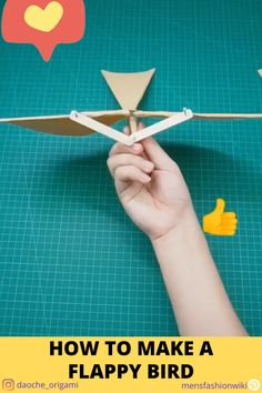 Jobs From Home Discover How to make a paper bird step by step How to make a paper bird which can truly fly Diy Crafts Hacks, Diy Crafts For Gifts, Diy Home Crafts, Diy Arts And Crafts, Creative Crafts, Fun Crafts, Plane Crafts, Bird Crafts, Paper Folding Crafts