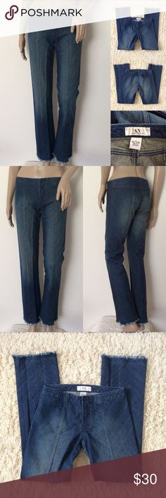 "A/X Bootcut Jeans A/X Armani Exchange  Bootcut Jeans . Size 2. Very Good condition. Worn 2-3 times. No visible flaws! Materials: 100% Cotton / 2% Elastane Actual Measurements (laying flat): • Waist - 29"" around • Rise - 8"" front/ 12"" back • Inseam - 30""  • Length - 38""  • Cuff - 8.5""  ~❌SWAP❌TRADE ~ ✔️❤️Bundles📦💕 ~✔️Smoke-free/pet-free home A/X Armani Exchange Jeans Boot Cut"