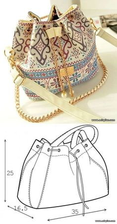 Ideas for sewing fabric bags purse patterns Bag Patterns To Sew, Sewing Patterns Free, Free Sewing, Free Pattern, Pattern Sewing, Pattern Ideas, Clothes Patterns, Messenger Bag Patterns, Knitting Patterns