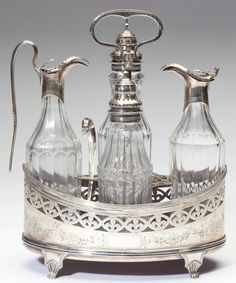 Lot # : 182 - George III Silver Cruet Set by Peter & Ann Bateman