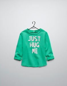 $20 velour sweater with text - Jogging - Baby girl (3-36 months) - Kids - ZARA United States