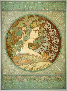 1901 'Ivy' lithograph 54 x 39.5 cm © Alphonse Mucha Estate-Artists Rights Society (ARS), New York-ADAGP, Paris