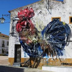 Street Art by Bordalo Il, located in Portugal