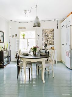 Painted Wood Floors Ideas | Small Galley Kitchens, Painted Wood Floors And  Galley Kitchens