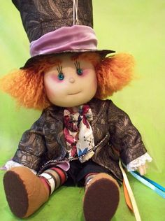 Alice in Wonderland....Rob went as the Mad Hatter for Halloween.  This doll is almost as cute as him and the costume.