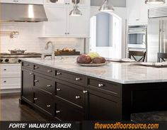 walnut shaker kitchen cabinet
