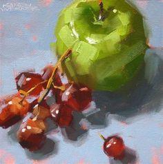 """""""Apple-A-Day"""" - Original Fine Art for Sale - © Karen Werner"""