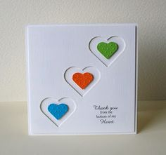 Bright and Bold thank you card by Lynne