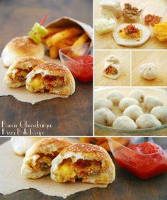 Rollitos de hamburguesa, queso y bacon