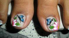 Uñas decoradas Painted Toes, Nail Decorations, Acrylic Nails, Make Up, Beauty, Irene, Finger Nails, Fairy, Templates