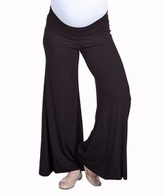 Take a look at this NOM Black Jenille Under-Belly Maternity Pants by Modern Mama: Maternity Apparel on #zulily today!