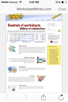 Make Worksheets!