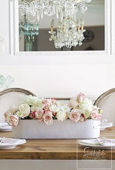 Shabbyfufu: Styling A Floral Centerpiece For Spring Entertaining
