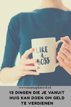 Thuiswerk en vanuit huis geld verdienen is populair. Ik doe het al jaren. Daarom deel ik 13 tips en ideeën hoe jij dat ook waar kan maken. #workingfromhome #likeaboss