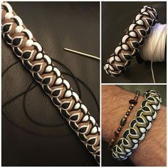 from not sure the name of this but here is how it s done its a cobra weaved into a cobra paracord… – ArtofitImage gallery – Page 291256300899199179 – ArtofitNo automatic alt text available – Artofit Paracord Bracelet Designs, Paracord Bracelets, Bracelets For Men, Beaded Bracelets, Paracord Weaves, Paracord Braids, Bracelet Fil, Bracelet Crafts, Paracord Tutorial