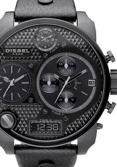 Diesel DZ7193 Oversize SBA Leather All Black