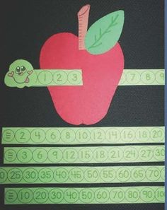 "SERIES GUSANO Y MANZANA FREE Wormy Apple. Help students learn to count and recognize numbers with a worm ""slider."" Also includes a worm for skip counting by and Apple Activities, Math Activities For Kids, Fun Math, Shape Activities, Apple Games, Skip Counting Activities, Classroom Freebies, Math Classroom, Kindergarten Math"