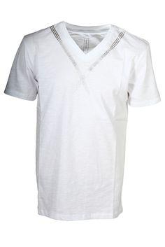 CROSS Jeans© Herren V-Ausschnitt T-Shirt aus hochwertiger Baumwollqualitt mit coolem V - Frontprint  Material: 100% Baumwolle...