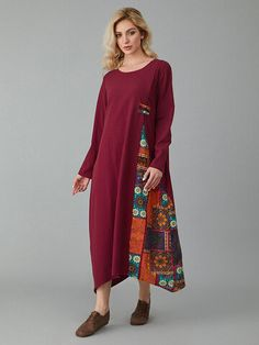 Cheap best ZANZEA Vintage Plaid Patchwork V-neck Plus Size Baggy Maxi Dress on Newchic, there is always a plus size print dresse suits you! British Indian, Brunei, Ethiopia, Suits You, Trinidad And Tobago, Casual Dresses, Floral Prints, Plus Size, Robes Maxi