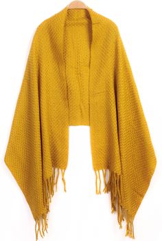 da10261ff73 SHEIN offers Yellow Tassel Knit Scarve   more to fit your fashionable needs.