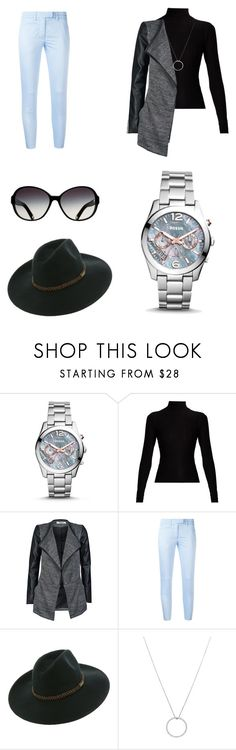 """Sleek Chic"" by bforbolaji ❤ liked on Polyvore featuring FOSSIL, Acne Studios, ONLY, Dondup, Billabong and Roberto Coin"