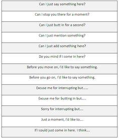 Ways of interrupting someone - learn English,communication