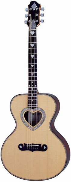 Heart themed guitar. Gorgeous- I sooooo want this in my life. But I would LOVE for it to be all black with the red and/or gray/white accents.