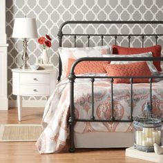 HomeSullivan Calabria Grey Queen Bed Frame-40E411BQ-1GABED - The Home Depot