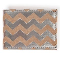 Raw pass case silver chevron - Gifts Under £10 - Gifts For - Gifts & Home