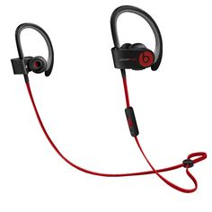 """Wireless earphones, with RemoteTalk wrap around cable. """"Beats by Dr. Dre PowerBeats 2 Wireless Bluetooth In-Ear Sports Headphones """". Pair and play with your Bluetooth device with 30 foot range. Bluetooth In Ear Headphones, Wireless Bluetooth, White Headphones, Sports Headphones, Beats Headphones, Workout Headphones, Apple Store France, Best Earbuds, Shopping"""