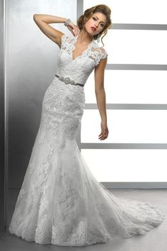 2012 Wedding Dresses Hot Selling Wedding Dresses Trumpet/Mermaid V Neck Court Train
