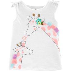 Carter's Giraffe Tulip Back Slub Tank - Baby Girl Baby & Toddler Clothing, Toddler Outfits, Toddler Girl, Kids Outfits, Girl Clothing, Newborn Clothing, Newborn Outfits, Clothing Stores, Winter Outfits